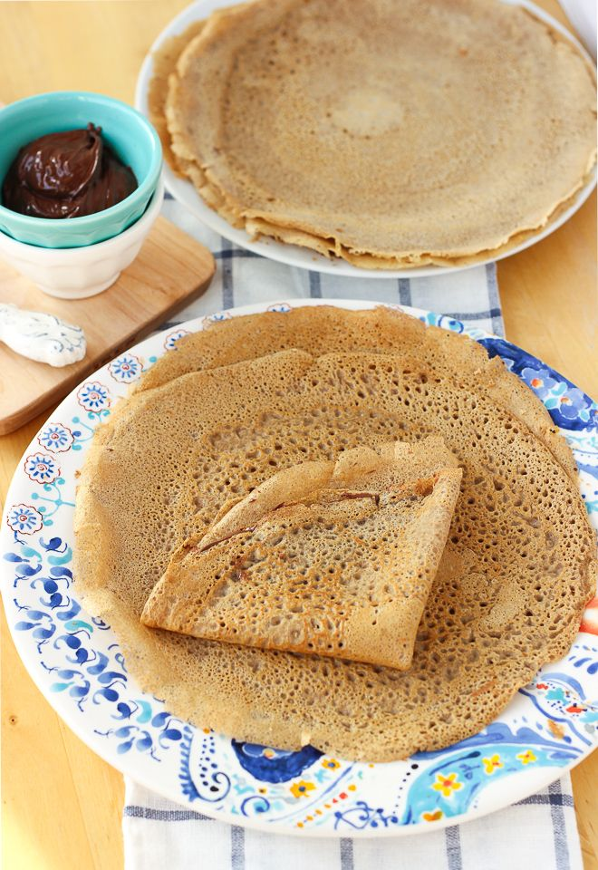 Buckwheat Blender Crepes! The easiest crepes you'll ever make! Lightly sweet and full of wholesome ingredients. Perfect for your favorite crepe fillings.  {Gluten-Free, Dairy-Free} | Meaningful Eats