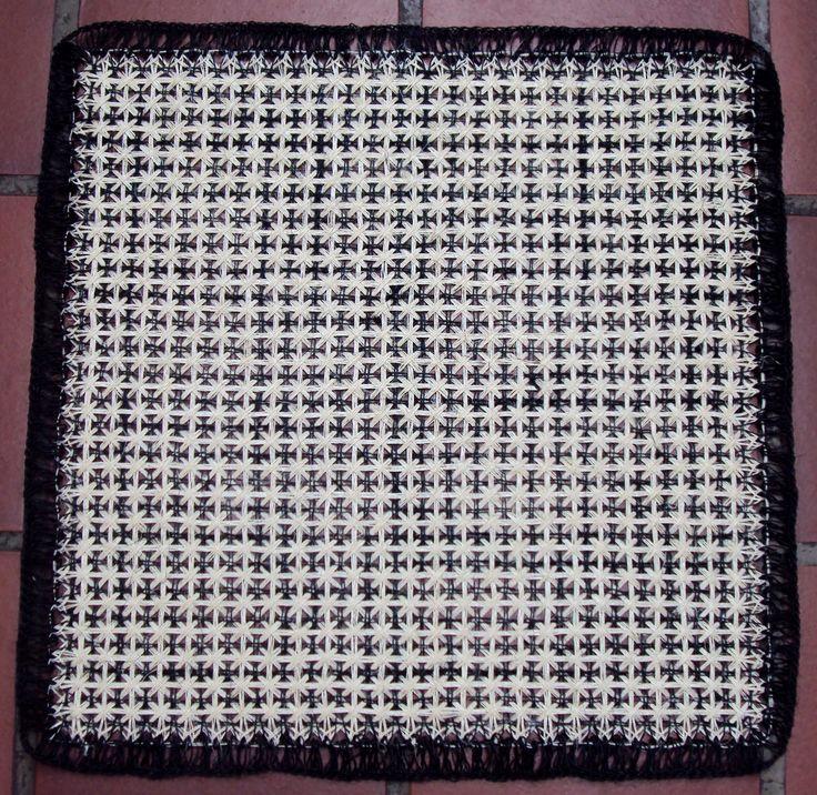 $35.000 COP Carpeta en cabuya tejida en telar puntilla
