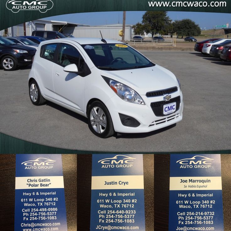 2015 Chevrolet Spark LT for sale in Waco TX from CMC AUTO GROUP Cmcwaco.com #BuyFromTheBear