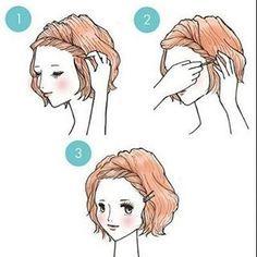 Drible problemas na franja dando um torcidinha e prendendo ela de lado com grampos.   22 penteados simples para quando você não sabe o que fazer com seu cabelo