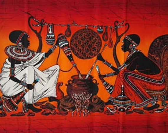 Wall Hanging Batik Is Unique Authentic African Candle Wax Batiks That You Can Browse From The Comfort Of Your Home Afric African Art Paintings Art African Art