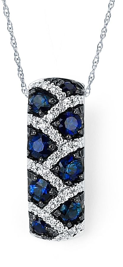 Ice 1/6 CT TW Blue and White Diamond 14K Gold Leopard Necklace by Boston Bay Diamonds