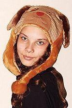 Детская коричневая шапка ушанка