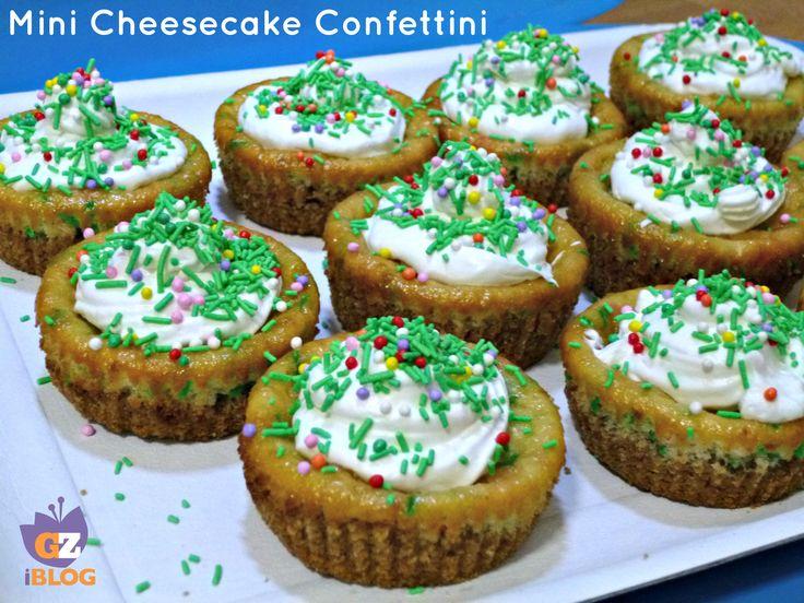 Sono semplici da preparare,sono come le cheesecake cotte,ma nel ripieno e sulla superficie ci sono i confettini o codette o diavolini colorati che rendono questi dolcetti subito allegri e belli da vedere. http://blog.giallozafferano.it/lacucinadimilena/mini-cheesecake-confettini/