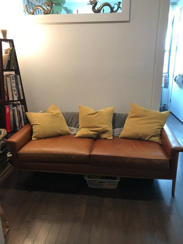 Used Brown fabric 2-seat sofa for sale in New York - letgo Frame