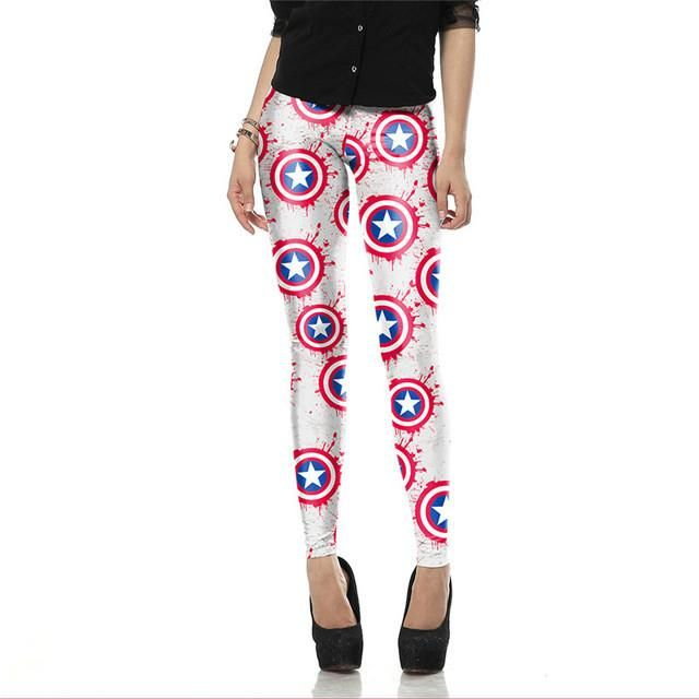 Ohio Printing Company - Always Creating!   Super Hero: Capta... find out more here: http://www.ohioprintingcompany.com/products/super-hero-captain-america-leggins-for-women?utm_campaign=social_autopilot&utm_source=pin&utm_medium=pin