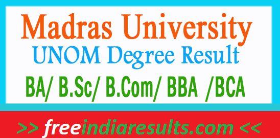 UNOM BA BSC BCom Result 2018 | Check Madras University PG Name Wise Results | Madras University Result 2018 | Madras Uni UG Results 2018 | Madras University PG Result 2018 Name Wise/ Roll No Wise | UNOM Results 2018 Name Wise/ Roll No wise Check