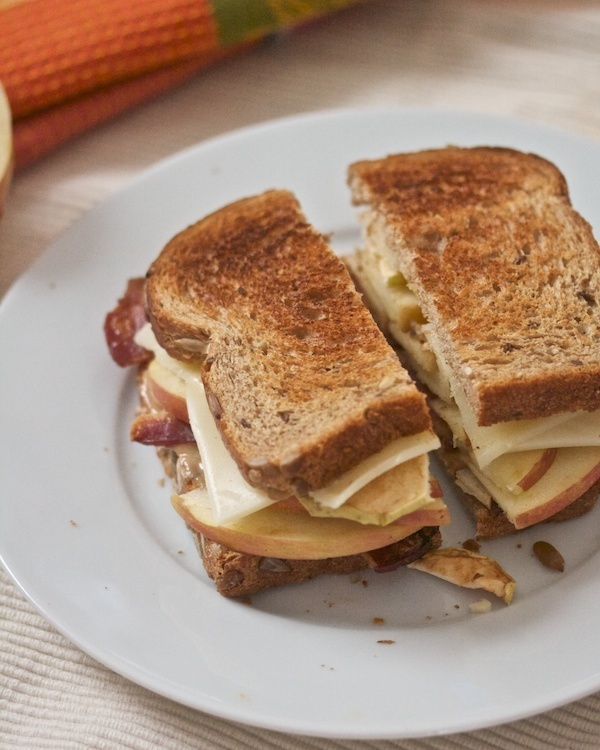 Bacon, Apple, Honey Mustard, and Swiss on Whole Wheat