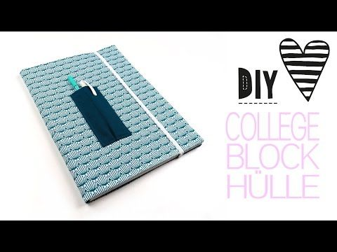 Collegeblock Hülle nähen – DIY MODE