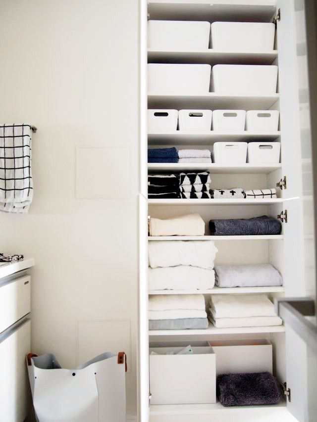 タオルの収納からたたみ方まで紹介!日本の住宅に合う収納実例