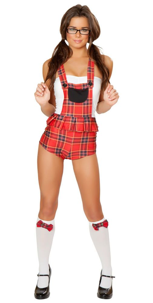 sexy j valentine school girl nerd student body halloween costume usa 4 sizes - Cute Halloween Costumes For School