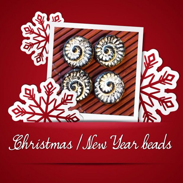 Merry Christmas! #beads #czech #christmas #glass #etsy #shop www.CzechBeadsExclusive.etsy.com