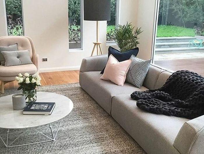 ▷ 1001 + idées déco originales pour le salon rose et gris | Deco ...