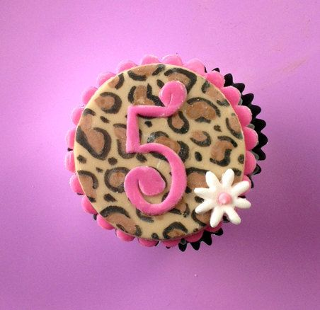 Leopard Print Cupcake Toppers on Etsy
