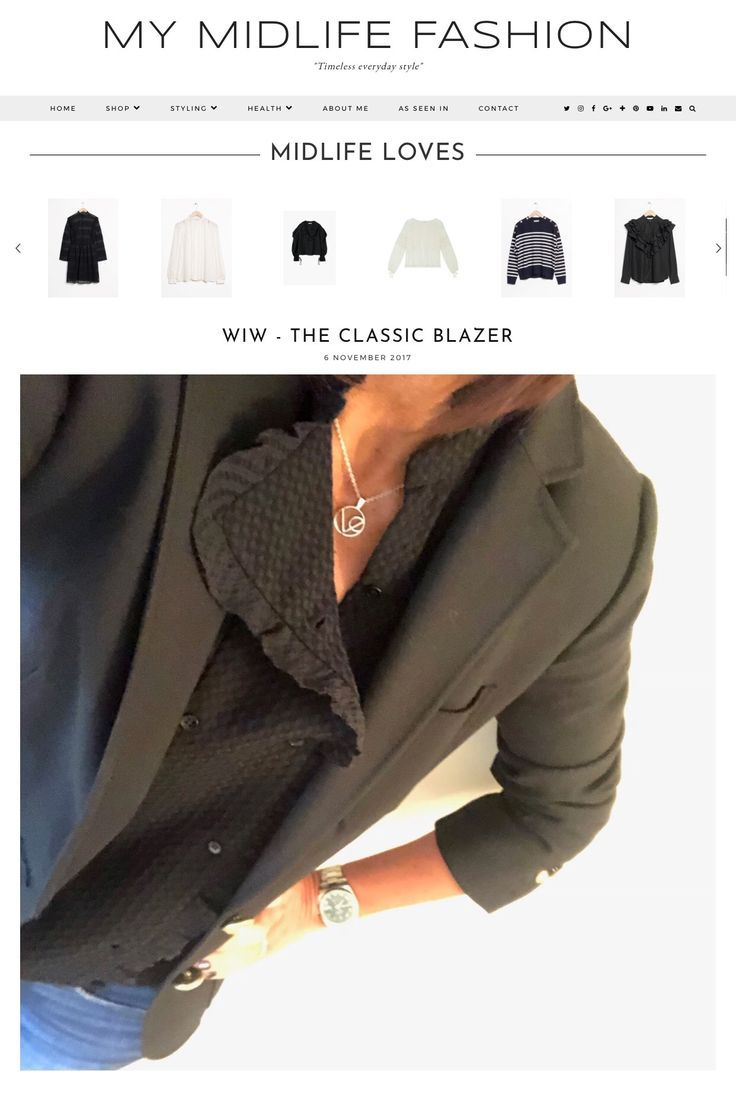 How to style a classic black single breasted blazer with skinny jeans & statement shoes. #ootd #wiw #lotd #over40 #over40fashion #fashion #howtodresswhenyoureover40 #over40style #midlife #whattowear #howtostyle #style #stylingtips #blazer #jcrew #skinnyjeans #frills #singlebreastedblazer