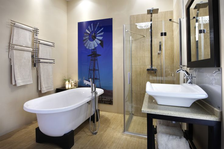 A unique look at the use of this free standing bath #bathroom #inspiration #style #modern #classic #freestanding #baths