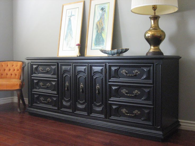Black Buffet Table Sideboard