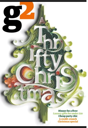 Thrifty Christmas beautiful paper typography
