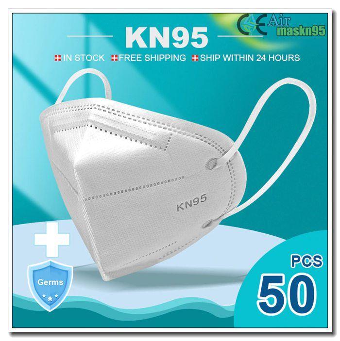 50 Pcs P2 N95 Respirator Mask Ffp3 Foldable For Pollution Medical Health Care Waterproof Crossbody Bag Face Mask
