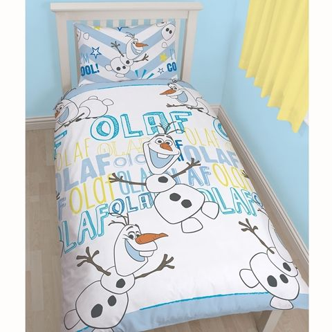Frozen Olaf Single Size Reversible Doona Cover and Pillowcase Set