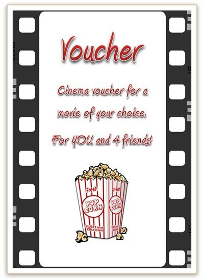 Best 25+ Cinema vouchers ideas on Pinterest Clever valentines - homemade gift certificate templates