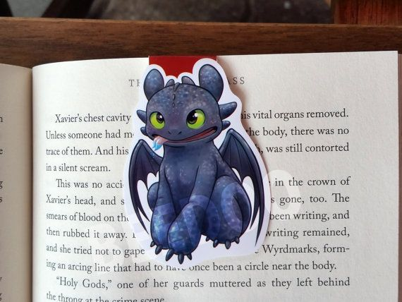 Toothless Magnetic Bookmark by BeedooTO on Etsy