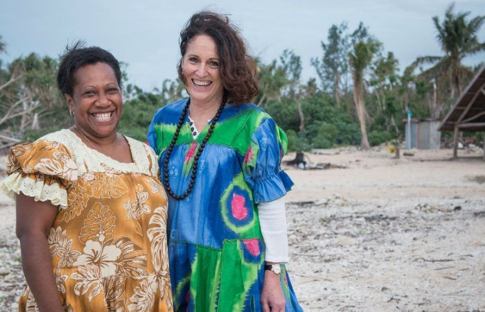 Oxfam Australia CE Dr Helen Szoke (Right) and Shirley Laban, Manager of Oxfam's climate change program in Vanuatu and Coordinator of the Vanuatu Climate Action Network, Takara village on Efate Island, Vanuatu. Photo: Groovy Banana/OxfamAUS. Women MPs stride forward, but women's issues remain lost...