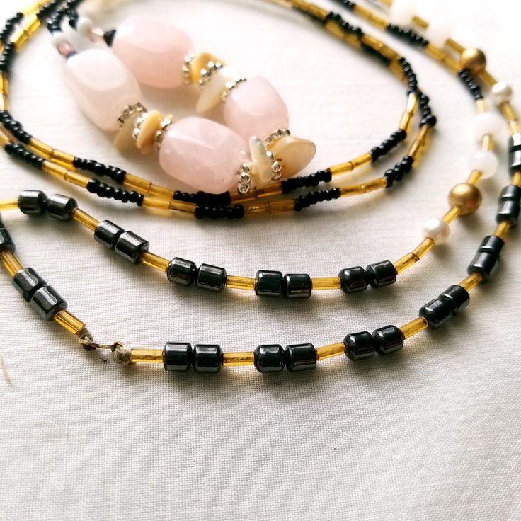 Made with ❤️ : Rose quartz necklace, hematite necklace, minimalist, long beaded necklace, Bohemian jewelry, Gypsy necklace, boho necklace, bold necklace https://www.etsy.com/listing/529320588/rose-quartz-necklace-hematite-necklace?utm_campaign=crowdfire&utm_content=crowdfire&utm_medium=social&utm_source=pinterest