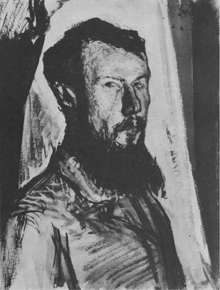 Автопортрет. 1912 индийская тушь, гуашь, 33х24,7см