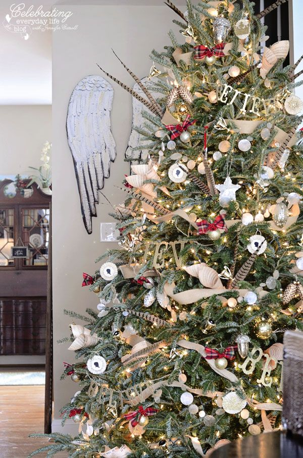 Angel Wings, Hunt Country Inspired Christmas Tree, Ralph Lauren Inspired Christm