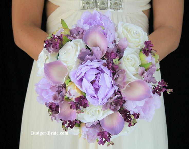 wedding bouquet with wisteria calla lilies wisteria delphinium and plum lilacs matches davids. Black Bedroom Furniture Sets. Home Design Ideas