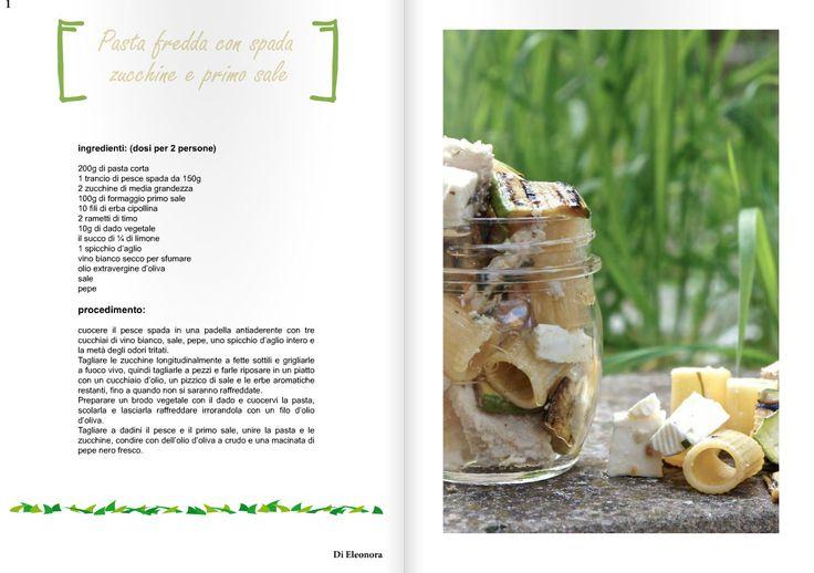 Pasta Fredda con spada zucchine e primo sale