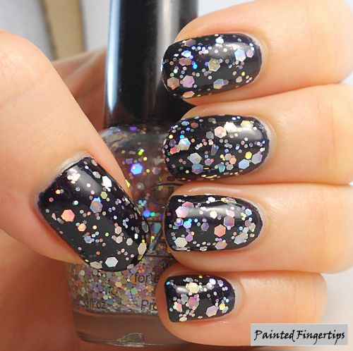 Painted Fingertips | Tip Top Rocky Road Glitter