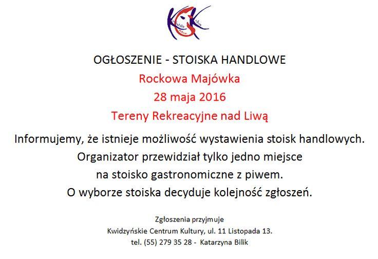 "Stoiska handlowe - ""Rockowa Majówka"""
