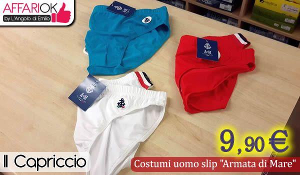 """Costumi uomo slip """"Armata di Mare"""" http://affariok.blogspot.it/2015/06/costumi-uomo-slip-armata-di-mare-da-il.html"""