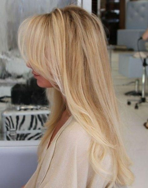 blonde hairstyle long
