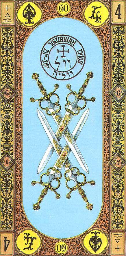 50 Best Tarot Four Of Swords Images On Pinterest