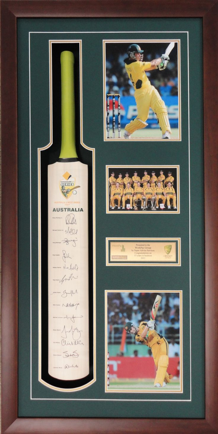 Frame your cricket bats! They look great on the wall and great way to preserve the signatures