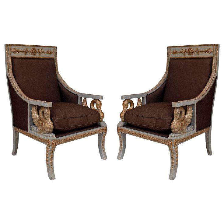 Superb Pair Of 18th Century Italian Neoclassical Silver Gilt Swan Bergères. 18th  CenturyRegency FurnitureModern ...