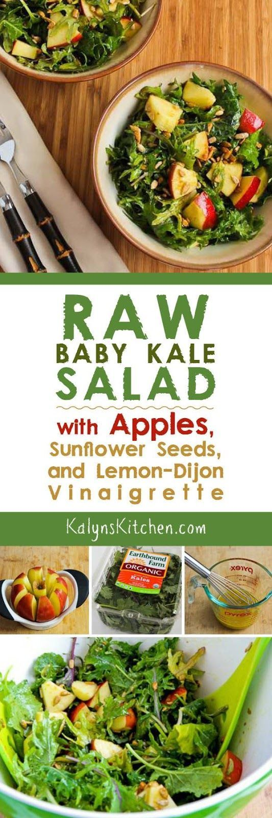 ... Kale Salad With Apples, Sunflower Seeds, And Lemon-Dijon Vinaigrette
