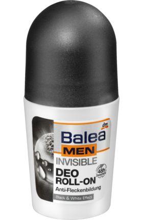Der Balea MEN invisible Deo Roll-on mit Black & White Effect bietet 48 Stunden lang zuverlässigen Deoschutz. Er hinterlässt keine Flecken auf heller...