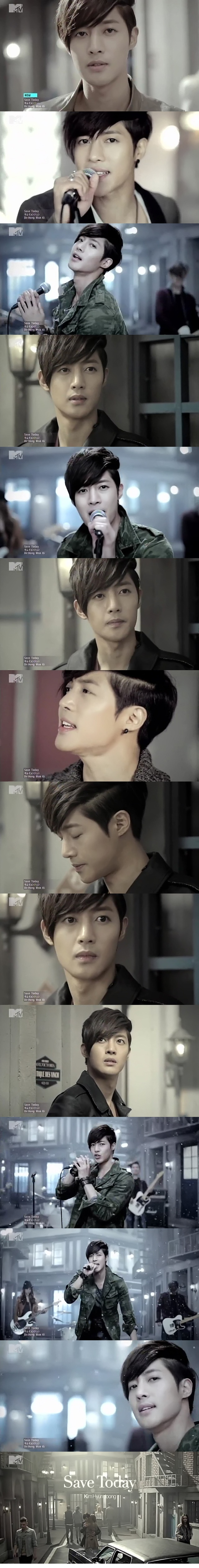 Kim Hyun Joong - Save Today (source: http://cozy-blog.tistory.com/1114 BTW, the entire MV is posted there too! And it not only looks, but also sounds amazing!! Check it out and buy an official CD!) I am so glad I ordered version B now! It comes with the making of this MW ^_^ : http://www.cdjapan.co.jp/detailview.html?KEY=UICV-9027