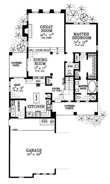 Compact Spanish Style First Floor