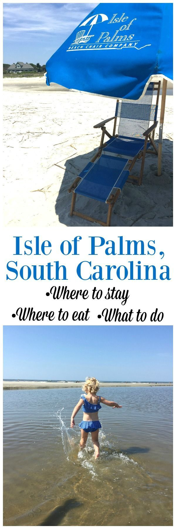 If you're not a fan of crowded Florida beaches, then you should definitely give an Isle of Palms Beach Vacation in South Carolina a try. It's about 30 minutes outside of Charleston and has beautiful beaches, great places to stay and eat. Best of all, this