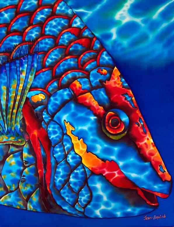 57 Best Images About Tropical Fish Silk Painting