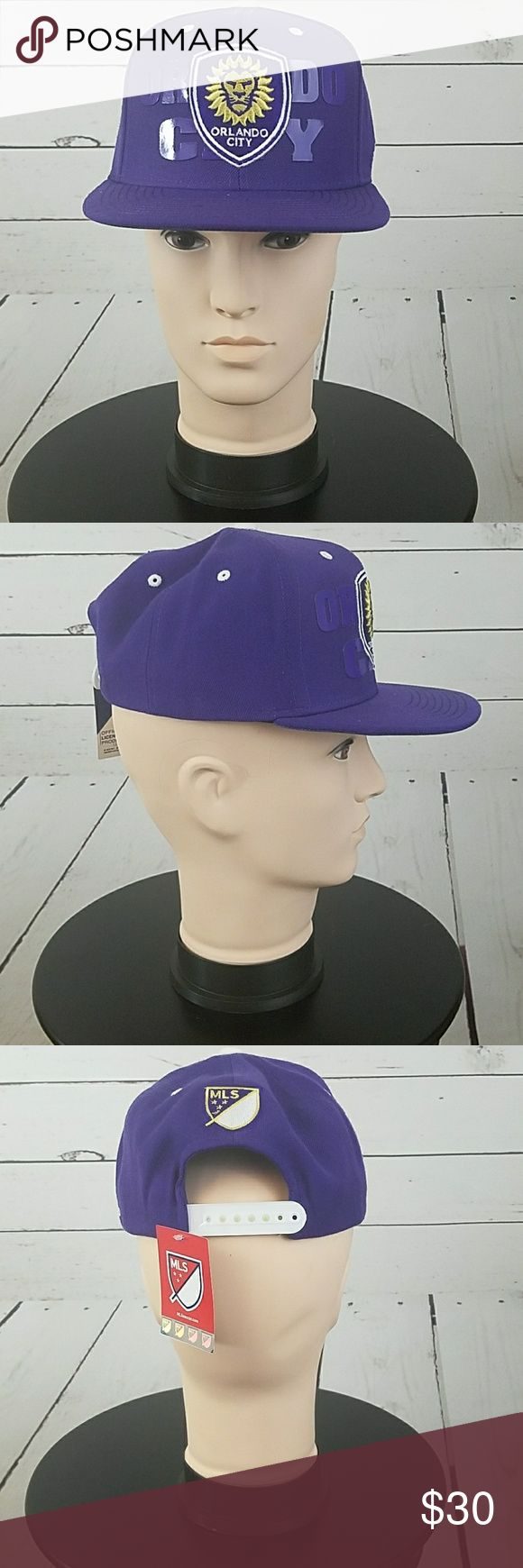 Orlando City Soccer Snap Back Cap MLS Academy Orlando City Soccer Snap Back Cap MLS Academy Brand New Adidas Accessories Hats