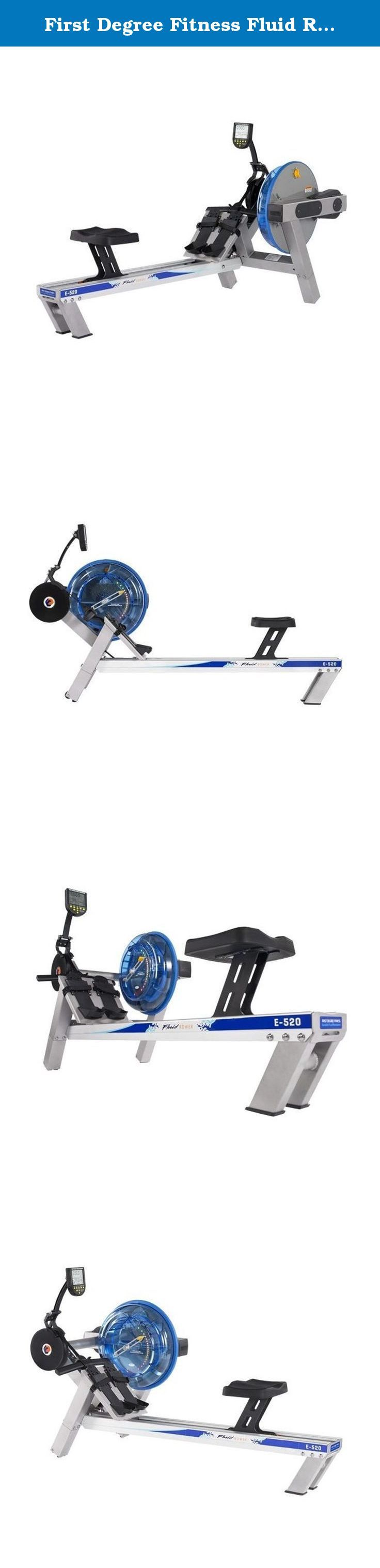 First Degree Fitness Fluid Rower with Heart Rate Reception, E520 - Silver Bronze - Evolution Series. First Degree Fitness gives you one of the most effective low-impact, non-jarring, total body cardio-respiratory workout machines that utilizes all major muscle groups including the back, legs, arms, abdominals, and buttocks. This high-end home and commercial fitness equipment is made to deliver a close emulation of real on-water rowing. The shorter length, higher seat height, molded seat…
