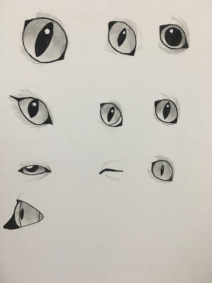 Just Practicing My Cat Eyes X3 Handdraft V 2019 G Cat Drawi Katzenaugen Susse Tiere Zeichnen Tiere Zeichnen