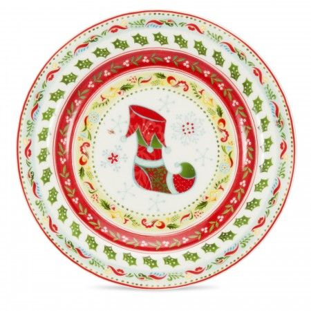 Portmeirion Christmas Wish tea plate, 17.5cm