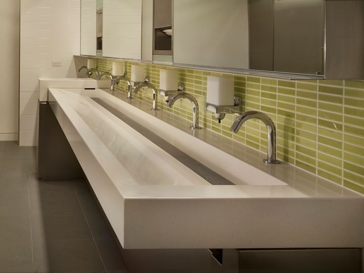 Commercial Trough Sinks For Bathrooms : 200 Fifth Ave Trough Sink HOME - Bathrooms Pinterest